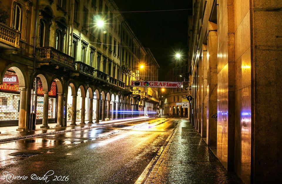 "\""Corso Moro, Varese\"" Playing in the rain."