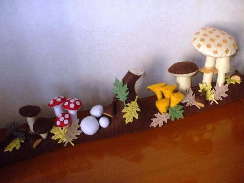 Imitazione del bosco e dei funghi più noti......