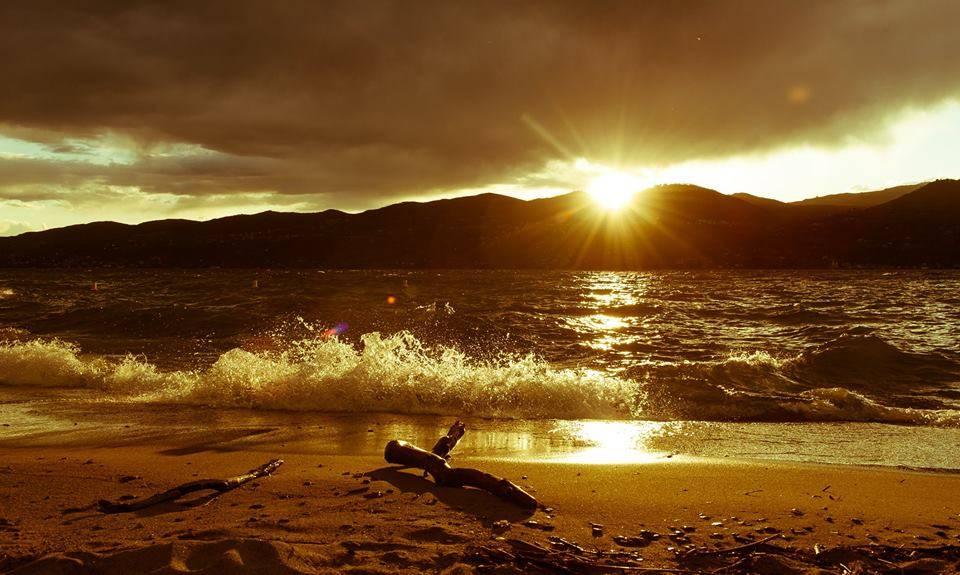 Il tramonto di Ispra