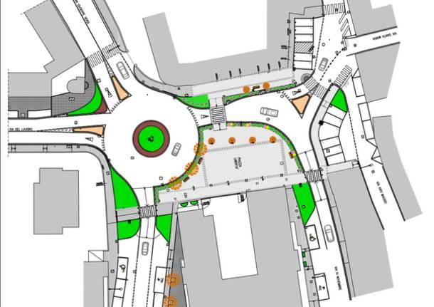 Cassano Magnago piazza libertà progetto