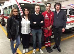 I giovani volontari della CRI di Varese