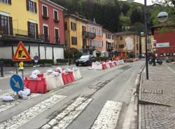 Il nuovo spartitraffico a Porto Ceresio