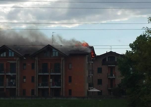 Incendio a Gerenzano