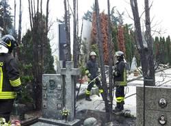 Incendio cimitero Gallarate