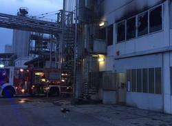 Incendio in una ditta di Samarate