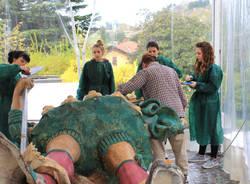 Induno Olona - concluso il restauro delle statue di Expo