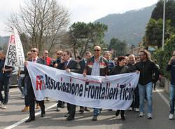 La protesta dei frontalieri