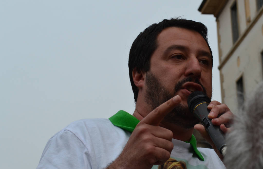Matteo Salvini a Busto