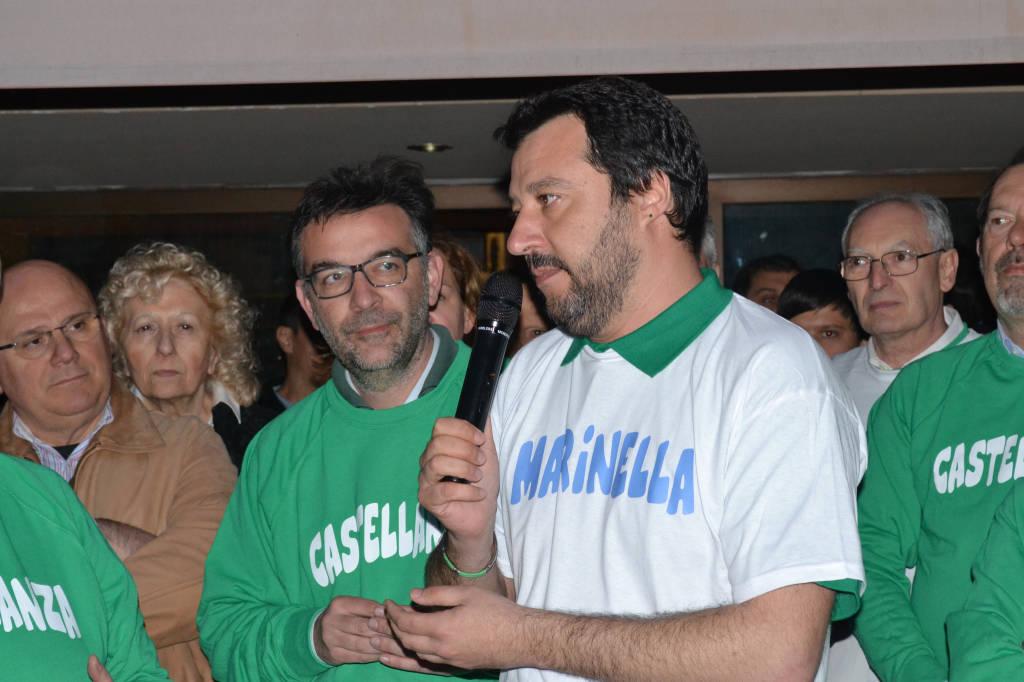 Matteo Salvini a Castellanza per Marinella Colombo