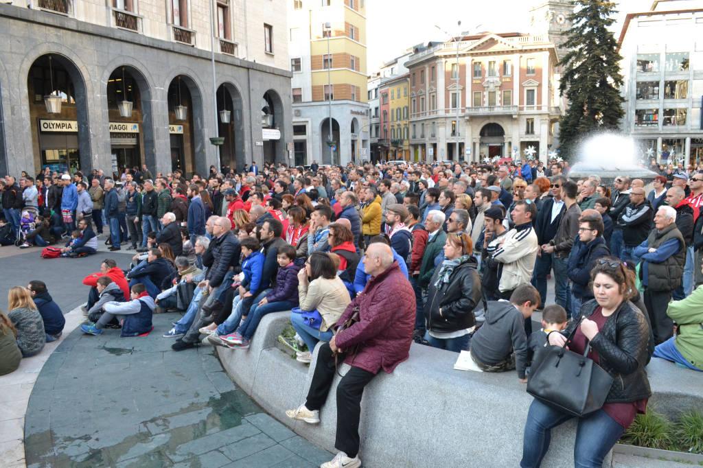 Piazza Montegrappa per le Final Four