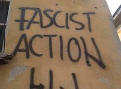 scritte fasciste su museo archeologico