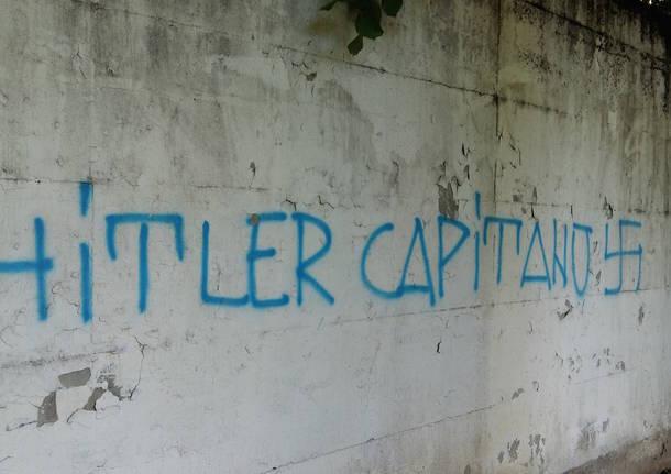 Scritte nazi-fasciste allo campo sportivo