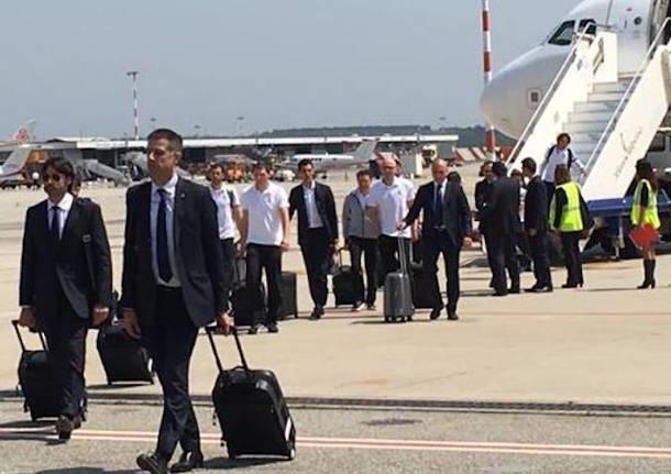 Il Real Madrid sbarca a Malpensa