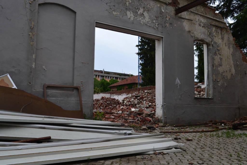 Il Calzaturifico Borri demolito