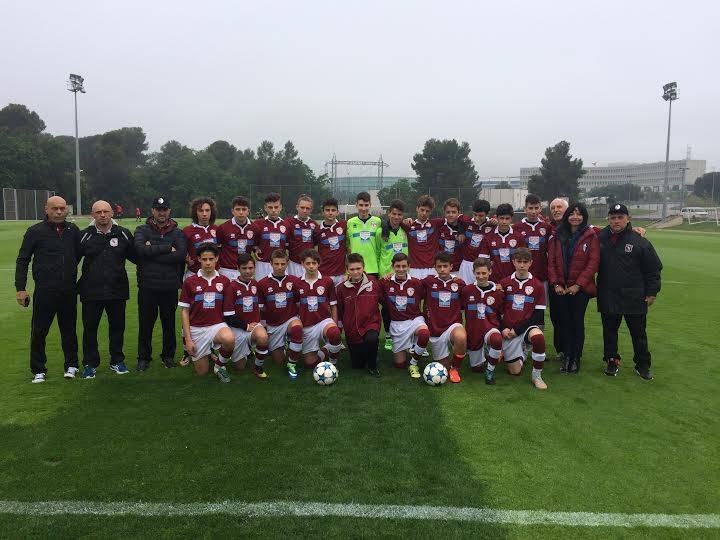 I ragazzi del Torino Club - scuola calcio Marco Parolo, in visita alla Fundation Marcet