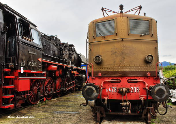 Porte aperte al museo ferroviario di Luino, domenica 15 maggio.