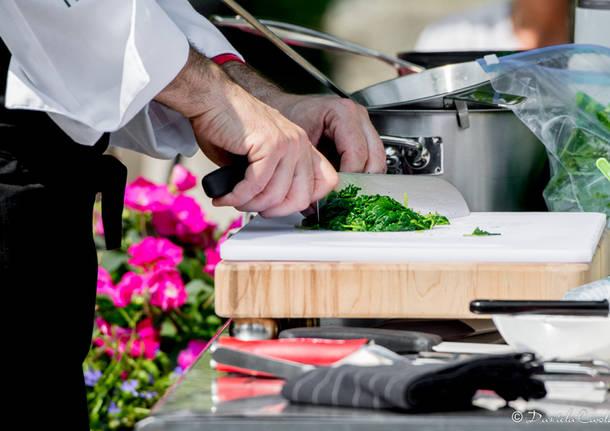 Lo chef Barzetti cucina al vivaio