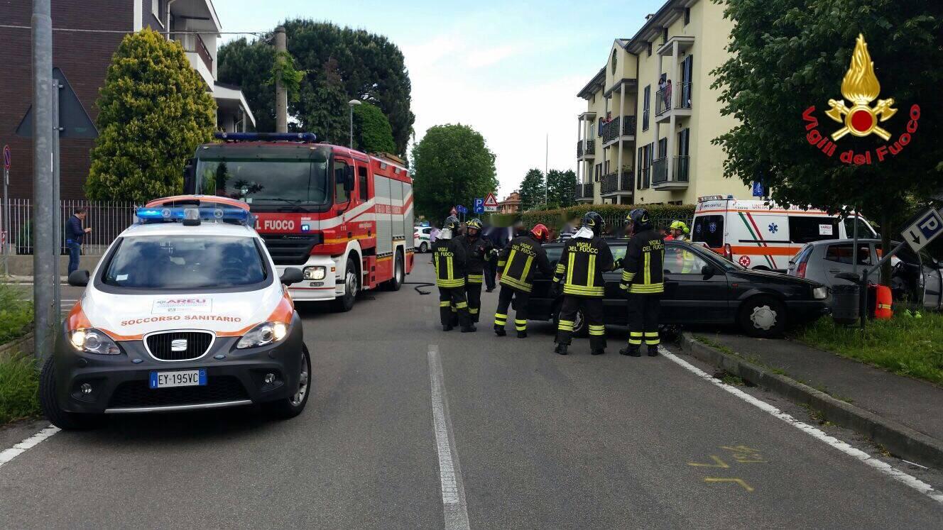 Incidente in Via Pisacane a Tradate