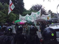 Manifestazione Lega contro Renzi