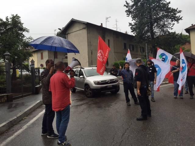 Manifestazione metalmeccanici Cassinetta Biandronno