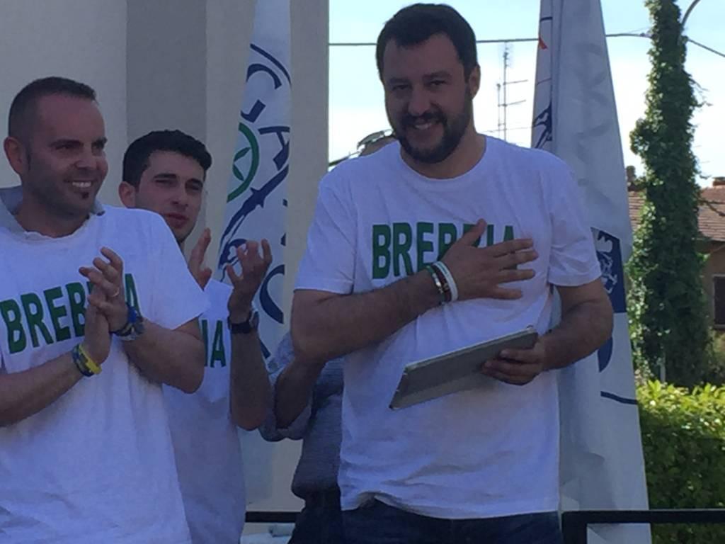 Matteo Salvini a Brebbia