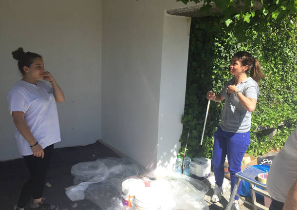 Studenti pittori all'opera a Casciago