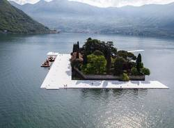 The floating piers: l'inizio dell'allestimento