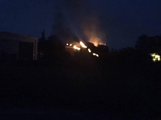 Incendio in una fabbrica di vernici