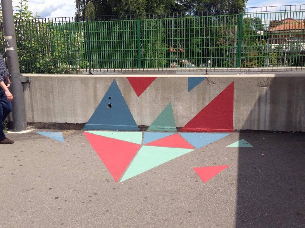 Nuove forme d\'arte urbana fra le stazioni di Varese