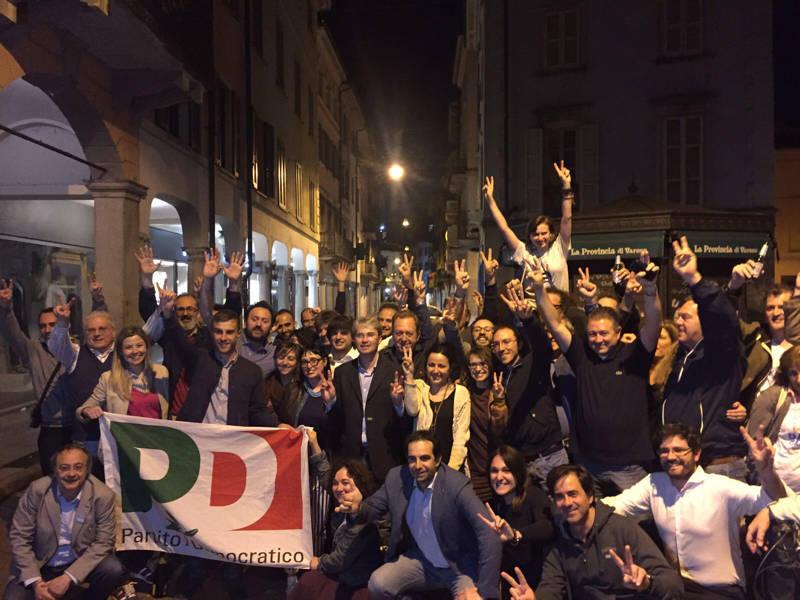 La notte elettorale di Varese