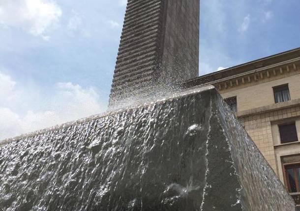 La fontana di piazza Montegrappa
