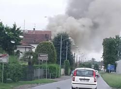 Incendio a Lonate Ceppino
