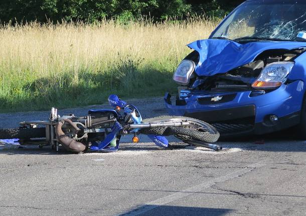 Incidente auto-moto a Orago