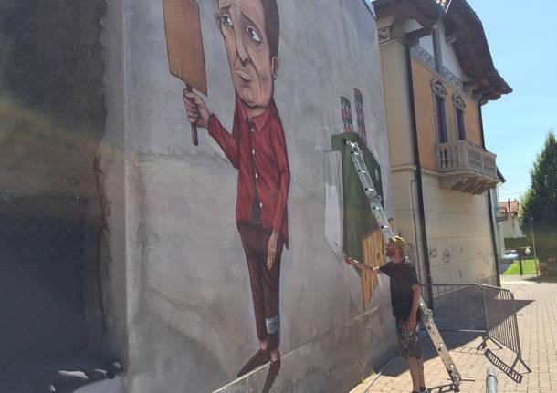 Ispra, un murales contro il gioco d'azzardo