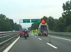 lavori in corso autostrada a8 solbiate arno cantiere
