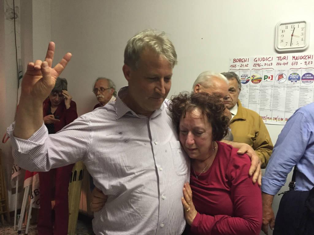 Marco Giudici, la notte elettorale da sindaco