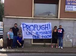 samarate protesta lega nord profughi
