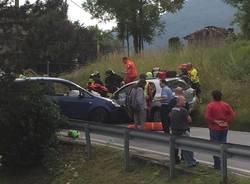 Scontro tra due automobili a Ferrera