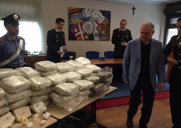 sequestro caocaina marijuana castellanza carabinieri gianluigi fontana
