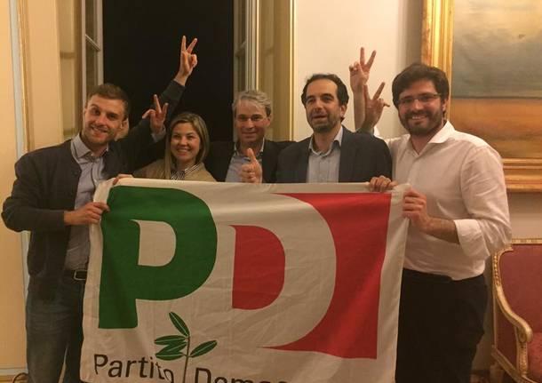 Varese, il Pd festeggia Galimberti sindaco