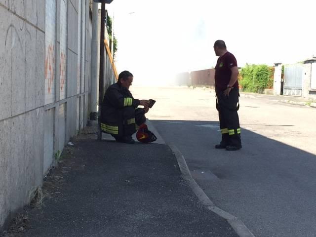 vigili del fuoco incendio ex crespi