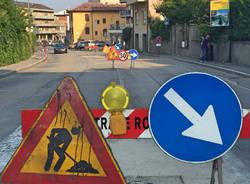 Cantiere stradale tra il Ponte e Villa Augusta