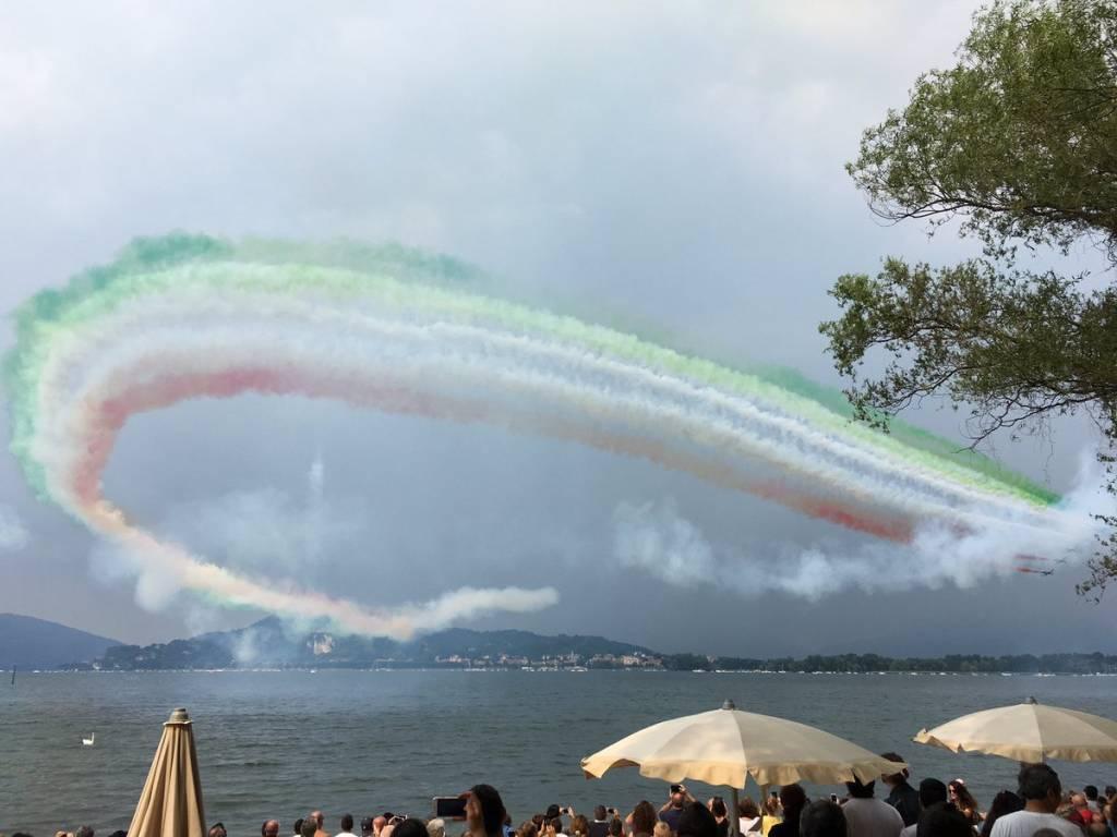 Le Frecce Tricolori sul Lago Maggiore