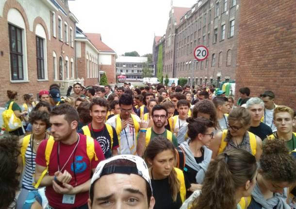 """""""Che emozione"""", anche i giovani varesini a Cracovia"""