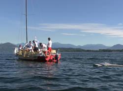 La campagna Goletta dei laghi sulle acque del Lago Maggiore