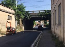 lavori in corso Gallarate cantiere asfaltatura asfaltature