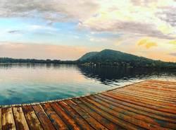 Tramonto al lago di Monate