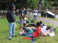 Al campo dei migranti a Como