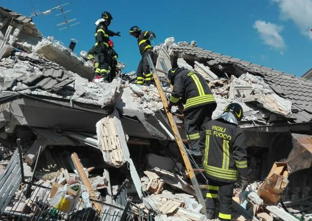 vigili del fuoco terremoto