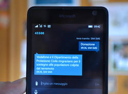 sms solidale terremoto